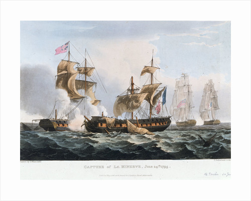 Capture of 'La Minerve' off Toulon, 24 June 1795 by Thomas Whitcombe