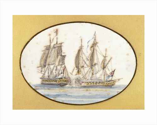 Capture of 'La Sensible' by the frigate 'by the Sea Horse', 27 June 1798 by R. W.