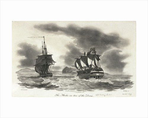 The 'Hoche' in tow of the 'Doris' by Nicholas Pocock