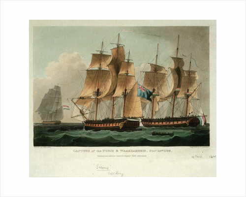 Capture of the 'Furie' & 'Waakzamheid' 23 October 1798 by Thomas Whitcombe