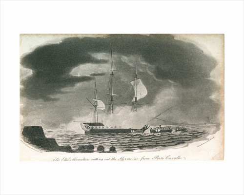 Sir Edwd Hamilton cutting out the Hermione from Porto Cavallo by Robert Dodd