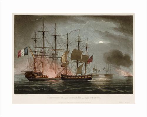 Capture of 'La Desiree', 7 July 1800 by Thomas Whitcombe