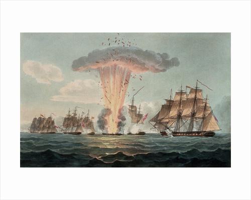 Capture and destruction of four Spanish frigates, 5 October 1804 by Nicholas Pocock