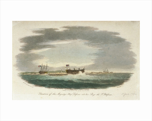 The 'San Ildefonso' captured by HMS 'Defence' by John Theophilus Lee