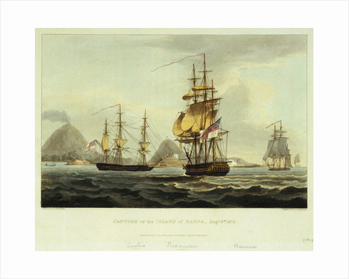 Capture of the Island of Banda, 9 August 1810 by Thomas Whitcombe