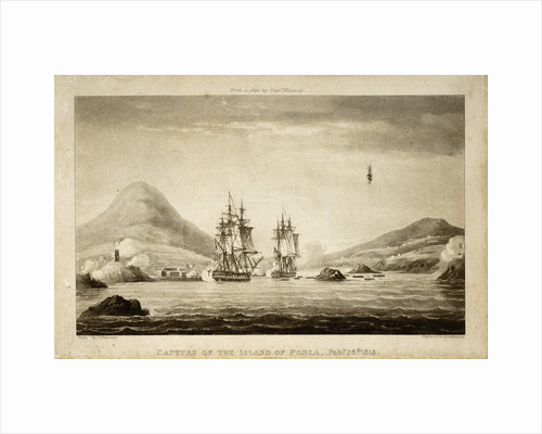 Capture of the Island of Ponza February 26th 1813. From a plan by Captain Mounsey by Thomas Whitcombe