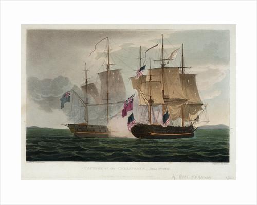 Capture of the 'Chesapeake', 1 June 1813 by Thomas Whitcombe