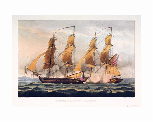 Capture of the 'Argus', 14 August 1813 by Thomas Whitcombe
