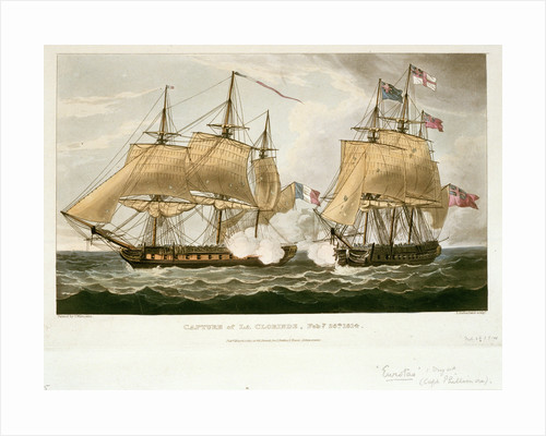 Capture of 'La Clorinde', 26 February 1814 by Thomas Whitcombe