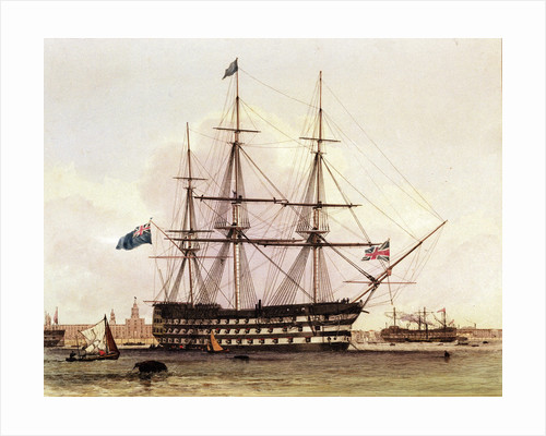 HMS 'Victory' by Edward William Cooke