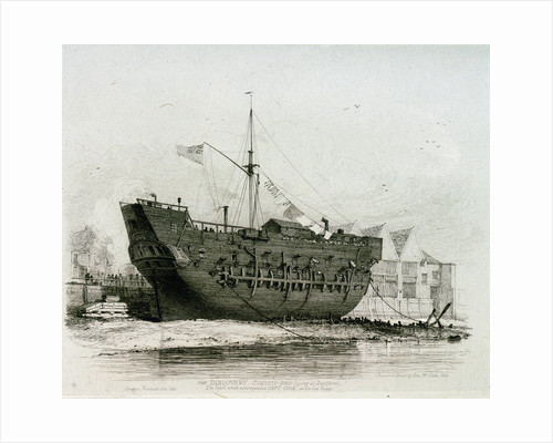 The 'Discovery' convict ship (lying at Deptford), the vessel which accompanied Captain Cook on his last voyage by Edward William Cooke