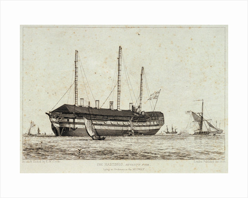 The 'Hastings' lying in the Medway by Edward William Cooke