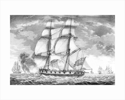 A King's brig in chase of a privateer by William Elmes