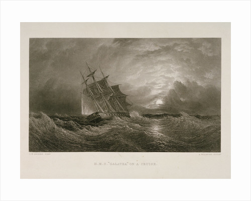 HMS 'Galatea' on a cruise by Oswald Walter Brierly
