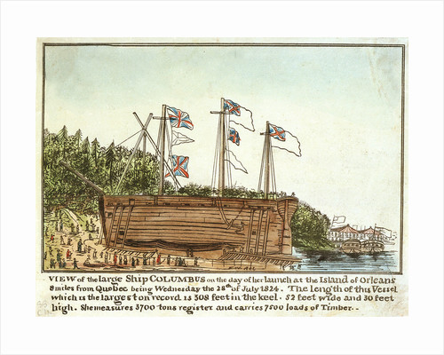 View of the 'Columbus' on the day of her launch, 28 July 1824 by Monogrammist 'FW'