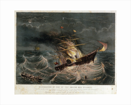 Destruction of the mail steamer 'Amazon' by Read & Co