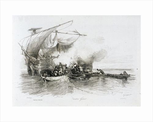 Greek pirates by Alexandre Gabriel Decamps