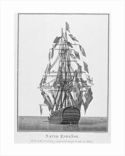 A Spanish warship by Augustin Berlinguero