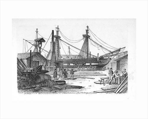 A West Indiaman in Cox & Curlin's yard Limehouse by Chatfield & Coleman