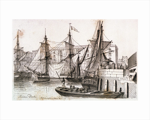 London Docks by Henry Moses