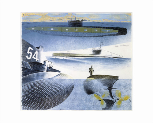 The Submarine Series: Submarine submerged by Eric Ravilious
