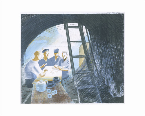 The Submarine Series: The Ward (mess) Room by Eric Ravilious