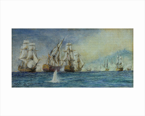 The Battle of Trafalgar (Santissima Trinidad) by William Lionel Wyllie