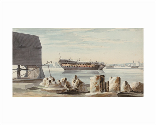 Rochester looking across from Chatham by George Bulteel Fisher