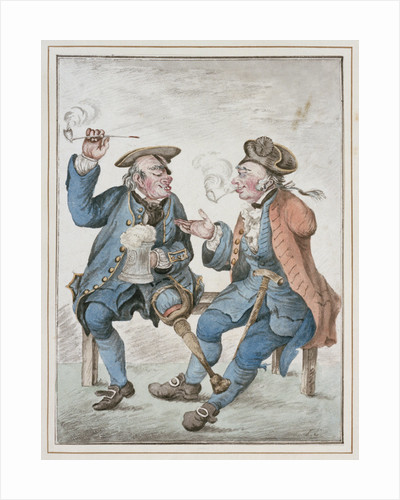 Two Old Seamen [Battles by Sea and Land] by Isaac Cruikshank