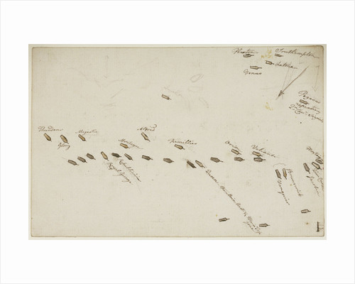 The Battle of the Glorious First of June, 1794; plan of the action by Nicholas Pocock