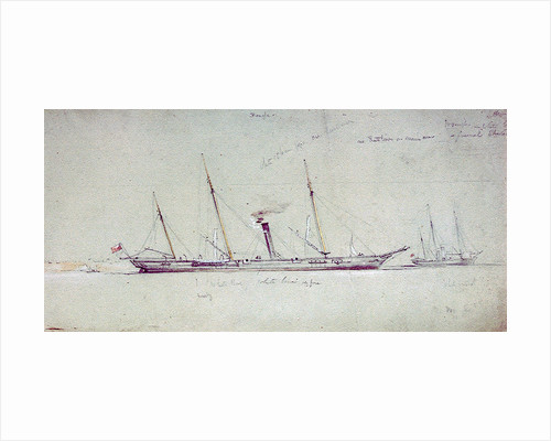 HMS 'Beagle' and 'Wrangler' by Oswald Walter Brierly
