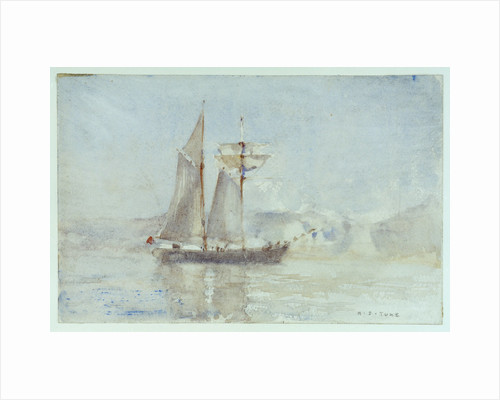 A schooner off shore by Henry Scott Tuke