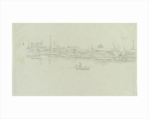 Greenwich or Rotherhithe, possibly in snow by William Lionel Wyllie