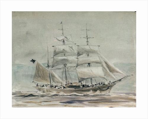 Barque under sail by William Lionel Wyllie