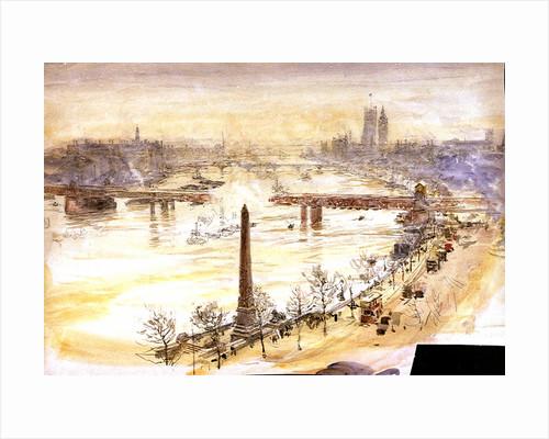 Charing Cross Bridge by William Lionel Wyllie