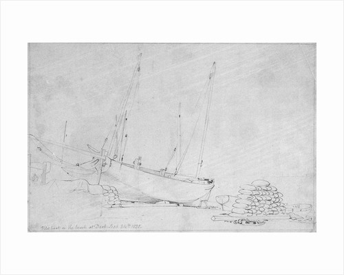 Pilot boat on the beach at Deal, 24 September 1830 by Edward William Cooke