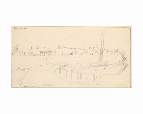 Vollendam, North Holland from the harbour wall by Edward William Cooke