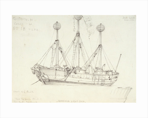 Goodwin light ship by Edward William Cooke