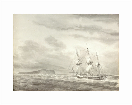 Cape Molo, Minorca and HMS 'Menelaus' by William Innes Pocock