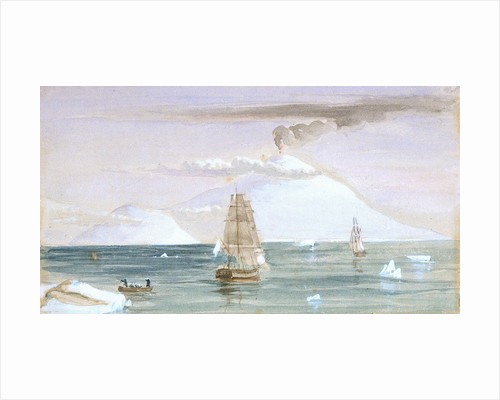 Beaufort Island and Mount Erebus. Discovered 28 January 1841 by J.E. Davis