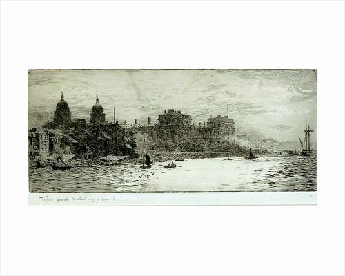 Americus Vespucci's first voyage, 1497-1499, Landing at Paria Venezuela. by William Lionel Wyllie
