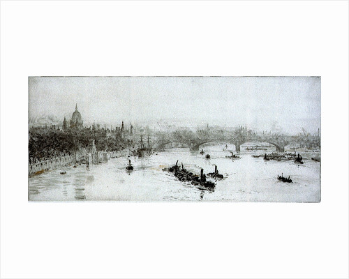 London Bridge and St Paul's by William Lionel Wyllie