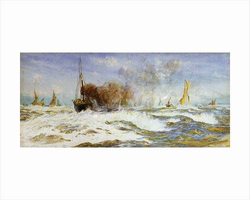 Barges and sea by William Lionel Wyllie