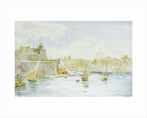 Malta Harbour by William Lionel Wyllie