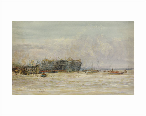 Breaking up HMS 'Hannibal' and 'Duke of Wellington' by William Lionel Wyllie