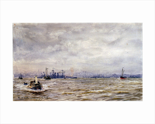 The 5th Battle Squadron in the Forth by William Lionel Wyllie