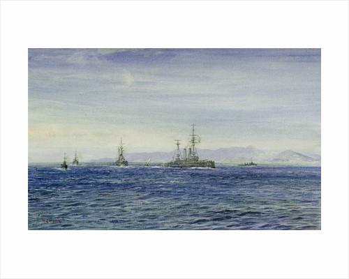 HMS 'Albemarle' in the Moray Firth by William Lionel Wyllie