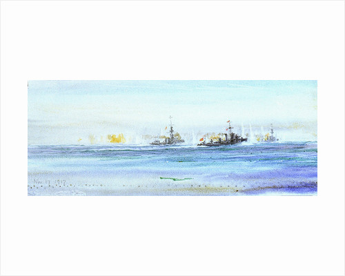 An Action on November 17th, 1917 by William Lionel Wyllie