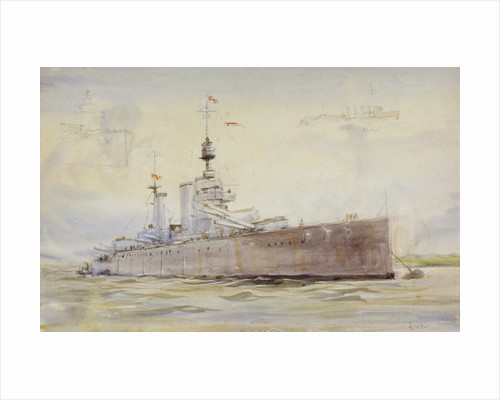 HMS 'Lion' by William Lionel Wyllie