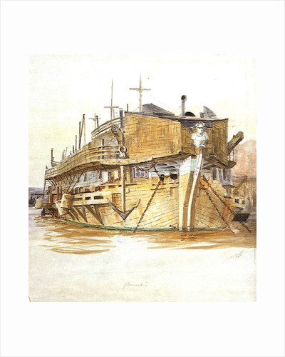 H.M.S. Gloucester by William Lionel Wyllie